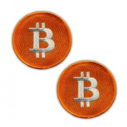 Bitcoin Big (6.5 cm) - Set of 2 patches