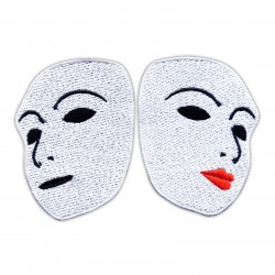 Set of feminine and male theater patches