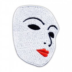 Mask of Lady - red lips