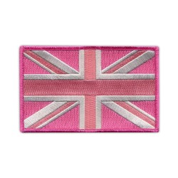 Flag of Great Britain - pink (7.5 x 4 cm)