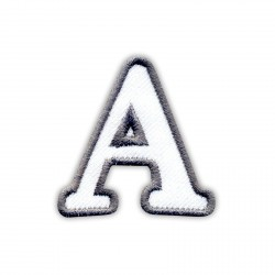Letter A - white