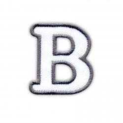 Letter B - white