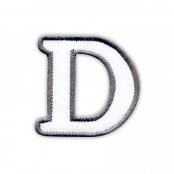 Letter D - white