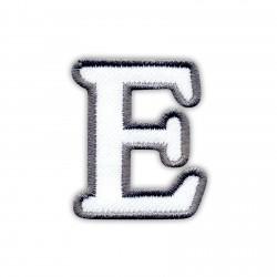 Letter E - white