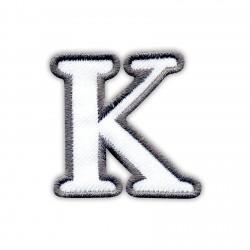 Letter K - white