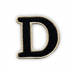 Letter D - black