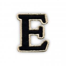 Letter E - black