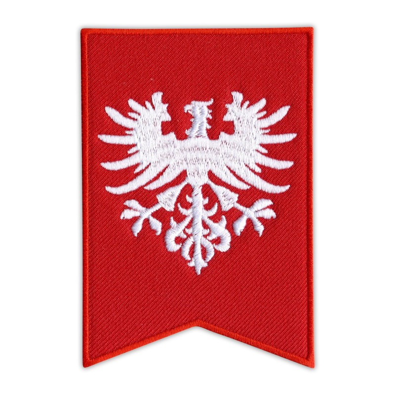 Flag of Greater Poland Uprising of 1918–1919 - eagle without the crown