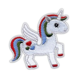 Rainbow Unicorn with hearts
