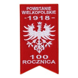 Flag of the Greater Poland Uprising - an eagle without a crown