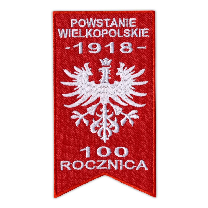 Commemorative patch for 100 anniversary of Greater Poland Uprising 1918–2018