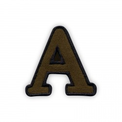 Letter A - olive