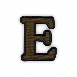 Letter E - olive