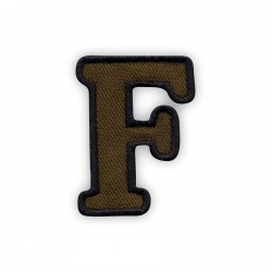 Letter F - olive