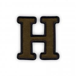 Letter H - olive