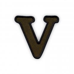 Letter V - olive