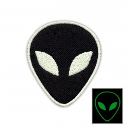 Alien - black - phosphorescent threads