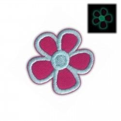 Flower blue (fluorescent thread)