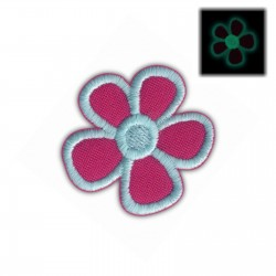 Flower blue (phosphorescent thread)