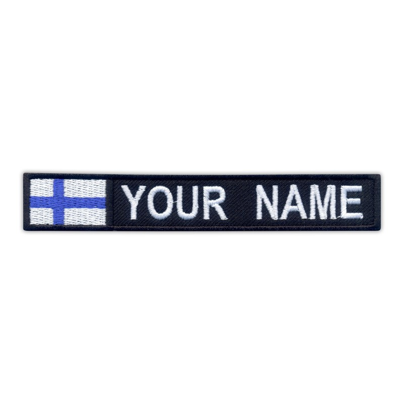 Name Patch with flag of Finland