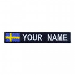 "Name Patch with flag 5"" x 0.8"" - various flags"