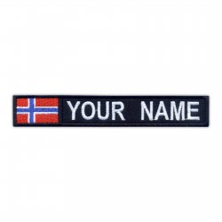 Name Patch with flag of Norway