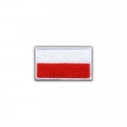 Flag of Poland 2 x 3.5 cm (small-white)