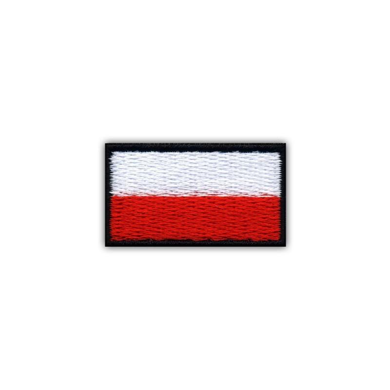 Flag of Poland 3.5 x 2.0 cm (small-black)