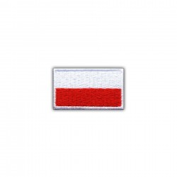 Flag of Poland 2.5 x 1.5 cm (small-white)