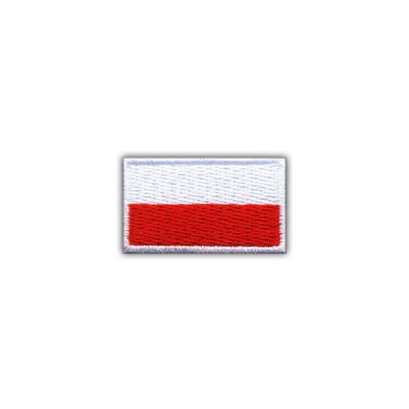 Flag of Poland 2.5 x 1.5 cm (small-white)