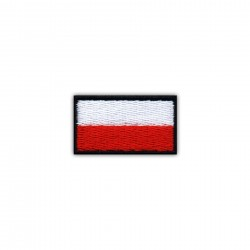 Flag of Poland 2.5 x 1.5 cm (small-black)