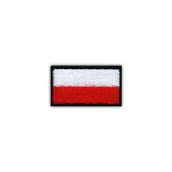 Flag of Poland 2.5 x 1.5 cm (small-black)