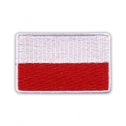 Flag of Poland 5.5 x 3.5 cm (white border)