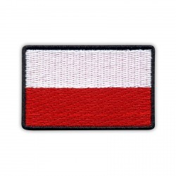 Flag of Poland 5.5 x 3.5 cm (black border)