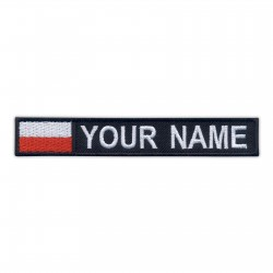Name Patch with flag of Poland