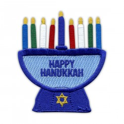 Menorah Symbol of Hanukkah - iron on