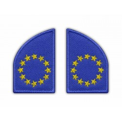 European Union Flag (collar flags, left and right)