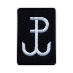Fighting Poland - Anchor (black) Small /Polska Walczaca - Kotwica