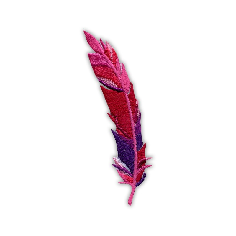 Feather - pink and purple