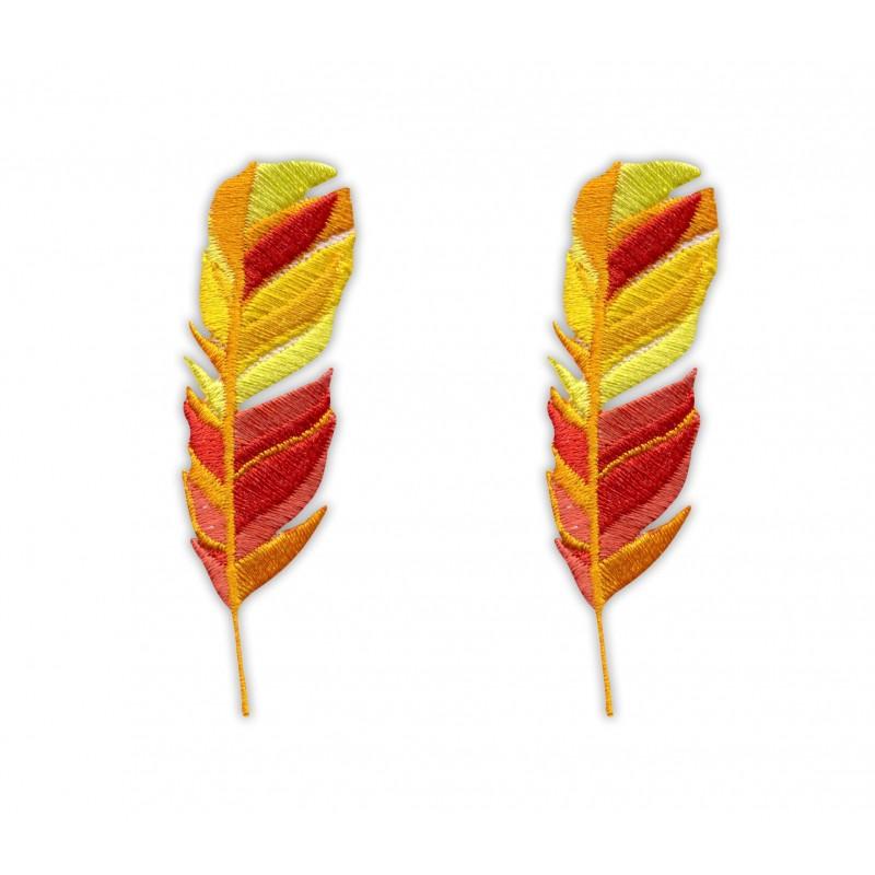 Feathers set - orange and yellow