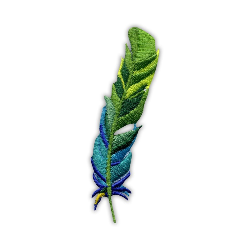 Feather - green and blue