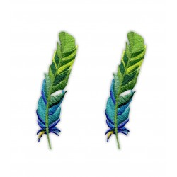 Set of feather - green and blue