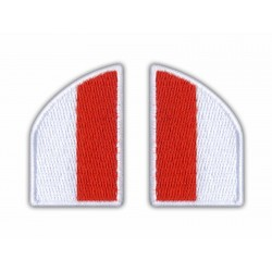 Flag of Poland (collar flags, left and right)