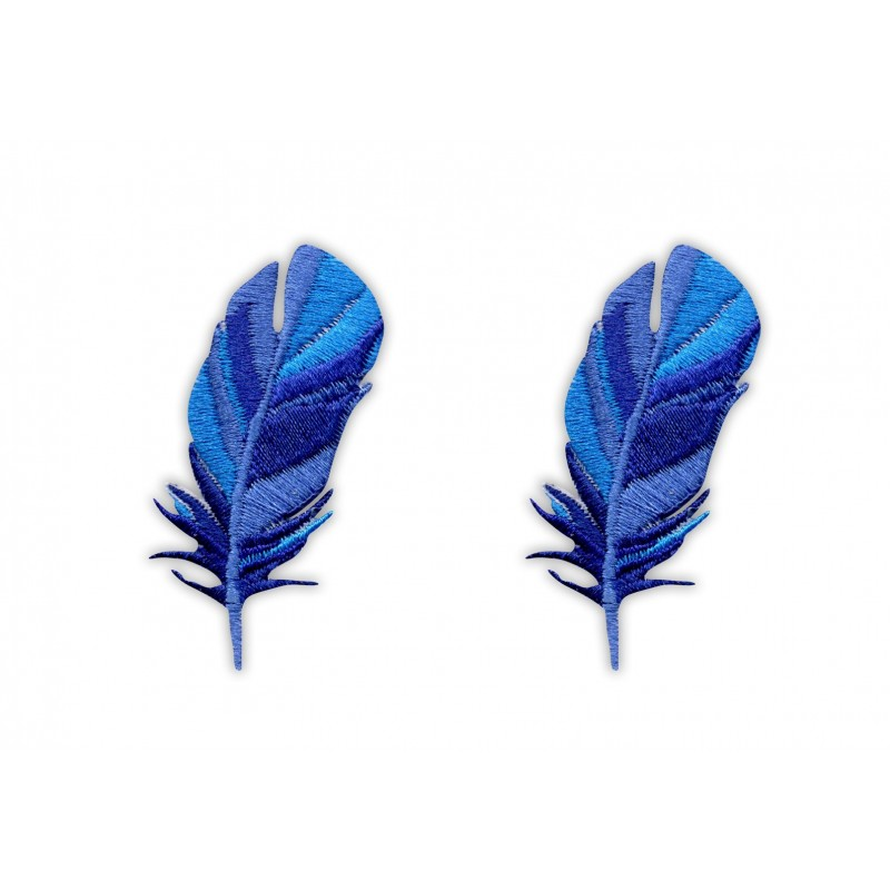 Set of feather - blue