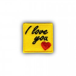 I love you - yellow note - 1""