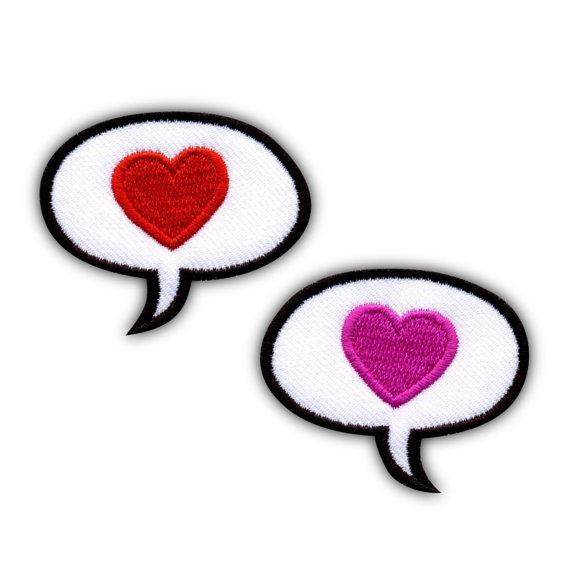 Hearts - Set of 2 Speech Bubbles - oval
