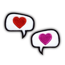 Hearts - Set of 2 Speech Bubbles - rectangle