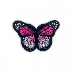 Little dark pink and white butterfly