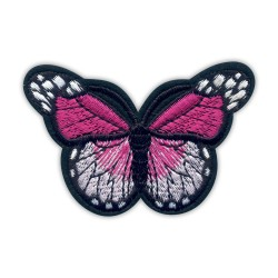 Butterfly dark pink and white big