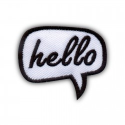 Speech Bubble - hello